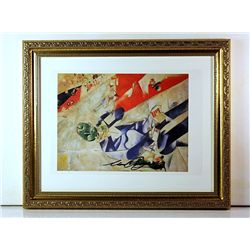Marc Chagall Original Lithograph - Half Past Three (The Poet)