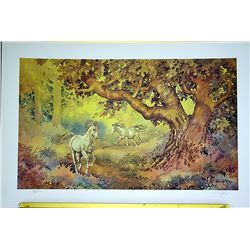 A.E. Ruffing Hand Signed and Numbered Lithograph