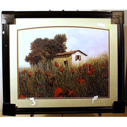 Borelli - Hill of Poppies - Lithograph