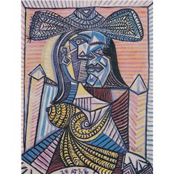 Seated Woman II- Picasso- Limited Edition on Canvas