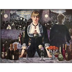 A Bar At The Follies Bergere - Manet - Limited Edition on Canvas