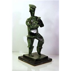 Jacque Lipchitz  Original, limited Edition  Bronze- Man with Guitar