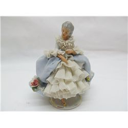 Dresden figure of young lady.