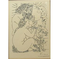 Ink drawing signed Picasso.