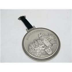 Pewter commemorative medal.