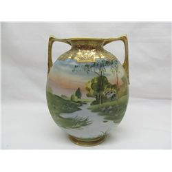 Hand painted Nippon vase.