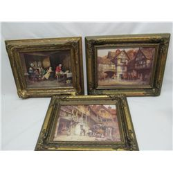 "Gilt framed ""Hunting Prints""."