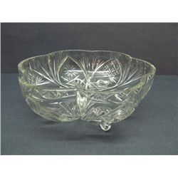 Lovely footed crystal bowl.