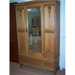 English style oak wardrobe.
