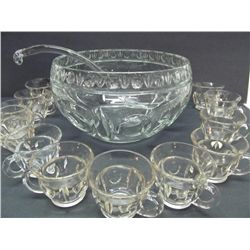 Early pressed glass punch bowl.
