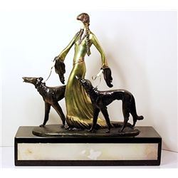 The Aristocrats - Bronze and Ivory Sculpture by Poertzel