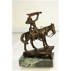 Bronze  1909's Indian Chief  by artist Dallin.