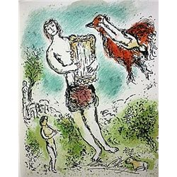 Theoclymenus by Chagall from the Odyssey Suite.