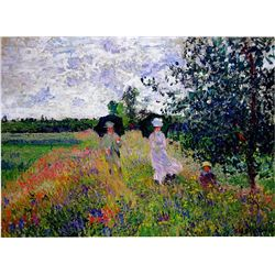 Promenade Near Argenteuil by Monet