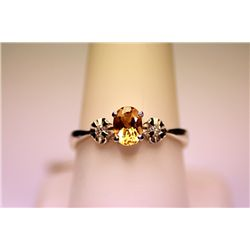 Lady's Fancy 14 Kt Golden Citrine Ring