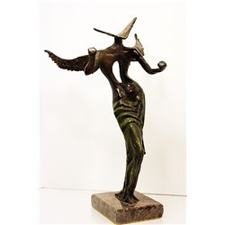 Salvador Dali Impeccable Original, limited Edition Bronze - Surrealist Angel