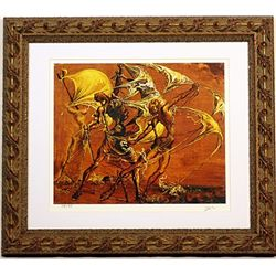 Salvador Dali Signed Limited Edition - Woman Imitating a Schooner