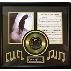 Michael Jackson   Giclee with Gold Record & Song Notes