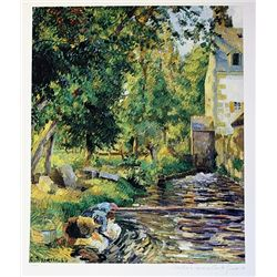 Limited Edition Pissaro- Washington House and Mill At Osny - Collection Domaine Pissaro
