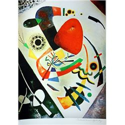 Limited Edition Kandinsky- Red Spot II - Collection Domaine Kandinsky