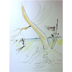 Original Watercolor on paper  Signed  Dali