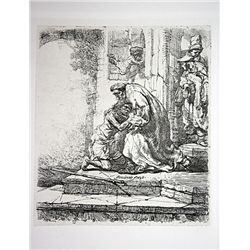 Rembrandt Etching- The Return of the Prodigal Son - Printed by A. Durand