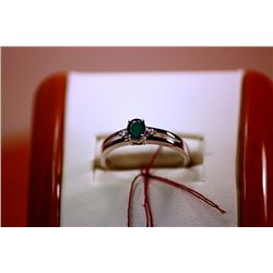 #133 - Fancy Unisex Columbian Emerald 14K Gold Ring
