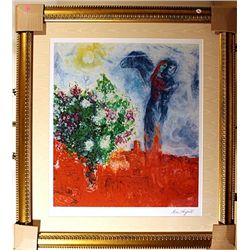 Chagall limited edition Limited Edition,  Couple Above St. Paul