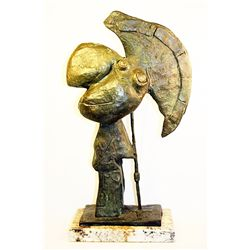 Picasso  Original limited Edition Bronze Sculpture -Head of Warrior