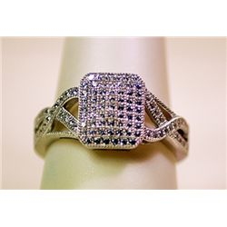 Lady's Antique Style Sterling Silver Diamond Ring