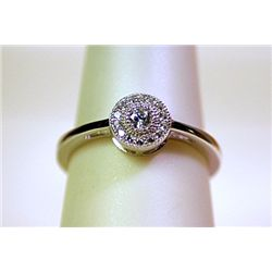 Lady's Fancy Antique Style Sterling Silver Diamond Ring
