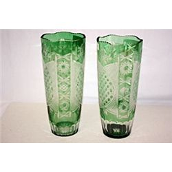 Emerald Crystal Flow Vases