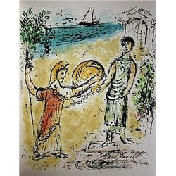 Athene and Telemachus  by Chagall from the Odyssey Suite.