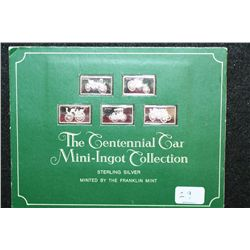 The Centennial Car Mini-Ingot Collection; Benz, Marcus, Panhard-Levassor, Duryea & Daimler; Sterling