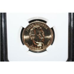 2008-D James Monroe-5th President $1; NGC Graded Brilliant Uncirculated
