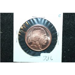 "Golden State Mint ""Buffalo Nickel"" Copper Round; .999 Fine Copper 1/4 Oz."