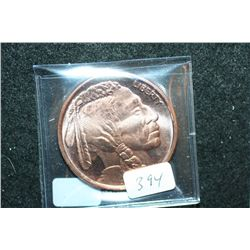 "2012 ""Buffalo Nickel"" Copper Round; .999 Fine Copper 1 Oz."