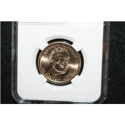 2008-P Andrew Jackson-7th President $1; NGC Graded Brilliant Uncirculated