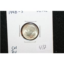 1948-S Roosevelt Dime; Choice BU
