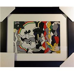 Roy Lichtenstein Limited Edition-Landscape with Figures and Rainbow