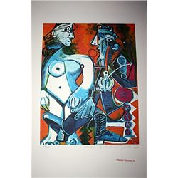 Limited Edition Picasso - Man With Nude Woman - Collection Domaine Picasso