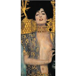 Dark Haired Lady- Klimt- Limited Edition on Canvas
