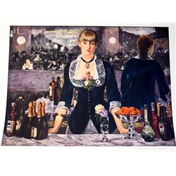 Limited Edition Manet- A Bar At The Folies Bergere - Collection Domaine Manet