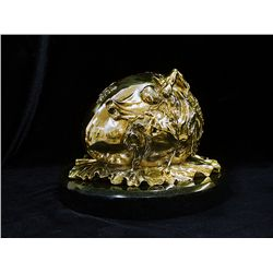 Dali Limited Edition 24K Gold Layered Bronze   Sculpture - Geopolitical Child Watches The Birth Of T