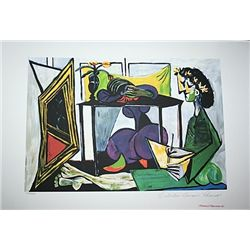 Limited Edition Picasso - Interior With A Girl Drawing - Collection Domaine Picasso