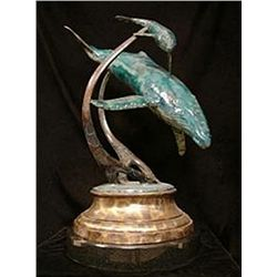 Bronze Sculpture - Tenderness by J. Townsend