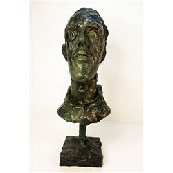 Alberto Giacometti  Original, limited Edition  Bronze - DIEGO (T&#202;TE AU COL ROUL&#201;)