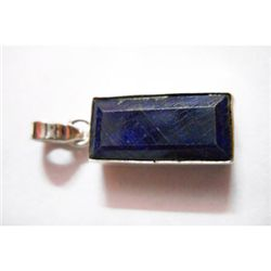 Natural 29.10 ctw Sapphire Pendant .925 Sterling