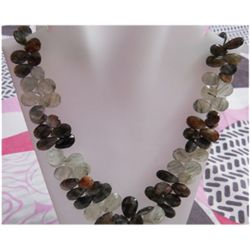 Natural 472.50ct Semi Precious Necklace .925 Sterling