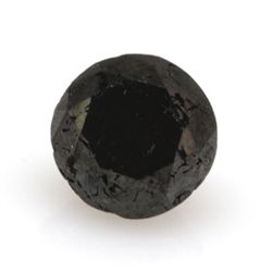 Natural Black Diamond Round Cut 2.50ctw